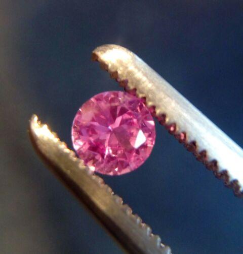 4 mm Redondo Cortar Rosa laboratorio creado zafiro sueltos piedras preciosas lote de 6 piedras.