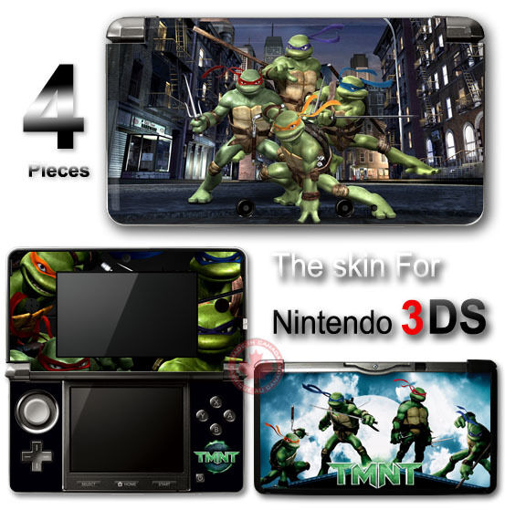 TMNT Teenage Mutant Ninja Turtles SKIN STICKER DECAL COVER for Nintendo 3DS