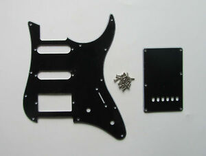 Guitar-Pickguard-and-Trem-Cover-fits-Yamaha-PACIFICA-Guitar-Black-3-Ply