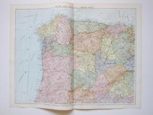 Map Spain Portugal North West Large Colour Map Gross EBay - Portugal map north