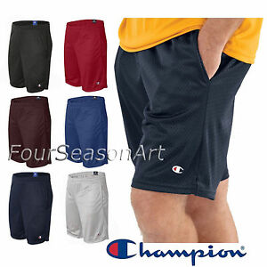 67a0e6009a24 Champion Mens 9   Athletic Long Mesh Pocket Short Gym Basketball ...