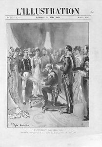 l-039-Avenement-d-039-Alphonse-XIII-Duc-de-Connaught-Ordre-de-la-Jarretiere-GRAVURE-1902