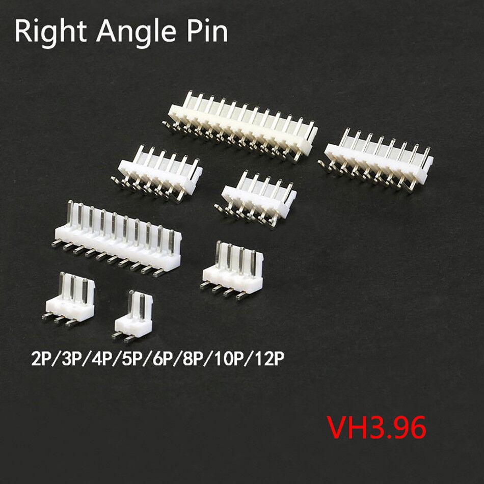 VH3.96 Pitch 3.96mm 2 3 4 5 P 8 10 12P Flat High Bend Pin Header PCB Connectors