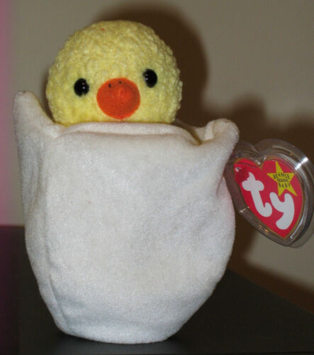 MWMT Ty Beanie Baby ~ EGGBERT the Egg in Chick 6 Inch