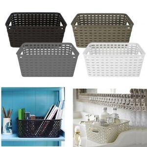 Handy-Storage-Basket-Plastic-Crate-School-Office-Kitchen-Pharmacy-Tidy-Organiser