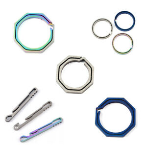 1X-Titanium-Alloy-Octagon-Mini-Quick-Release-Keychain-Carabiner-Key-Ring-NEW