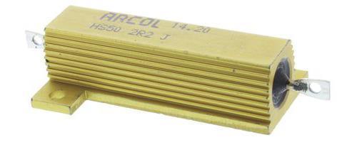 1 x Arcol HS50 Series Aluminium Housed Axial Panel Mount Resistor, 2.2Ω ±5% 50W