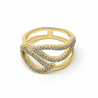 with White Micro Pave Polished Finish  241 New 9CT Gold Filled Huggie Hoop