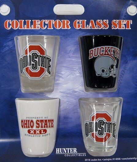OHIO STATE University 4pc college Shot Glass Set
