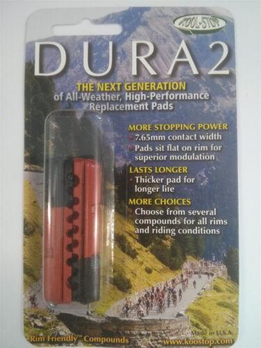 KOOL STOP DURA2 DUAL COMPOUND ROAD BIKE BRAKE PADS SHOES BLACK /& SALMON SHIMANO
