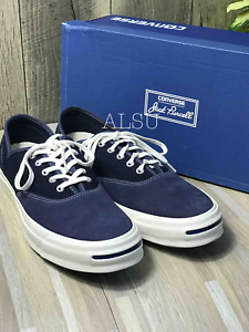 Sneakers-Men-039-s-Converse-Jack-Purcell-Signature-CVO-Suede-Canvas-Blue-Low-Top