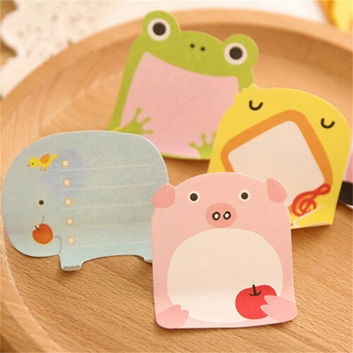 8X Cute Animal Sticker Office Bookmark Point Marker Memo Sticky Notes SK