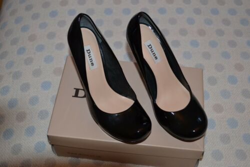 Ladies Dune Bnib Uk Round 40 Black 7 Size Stiletto Heels Toe 4jRL35A