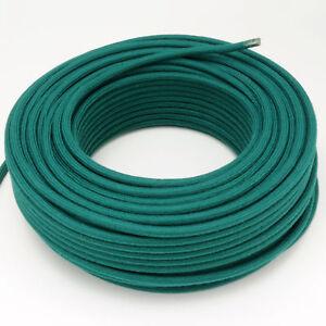 Textilkabel-Leitung-Faser-umflochten-rund-Abaca-Petrol-3x0-75-H03VV