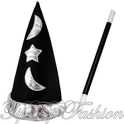 Ehrlich Neu Schwarz Gepolstert Zauberer Hut Für Potter Magic Merlin Sortierung Kostüm