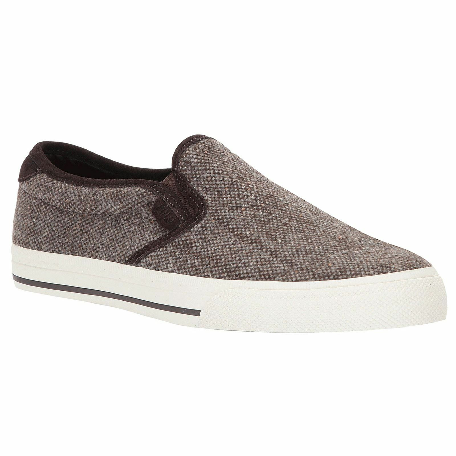 Ralph Lauren Vaughn Slip-On II Brown Men Wool Low-Top Slip-On Flats Trainers New