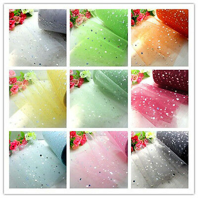 1 Roll/25 Yards Tulle Roll Spool Fabric Netting Wedding Party Gift Bow Craft DIY