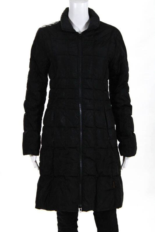 Lower Price with Moncler Womens Puffer Zip Up 3/4 Length Coat Black Size 1 Modern And Elegant In Fashion