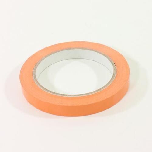 PVC-Klebefilm 125 ORANGE für Beutelverschließer 12mm x 66m Klebeband 32mym