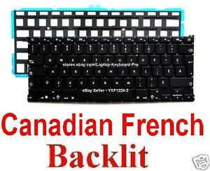 Keyboard-for-Apple-MacBook-Air-A1369-A1466-CF-Canadian-French-Backlit
