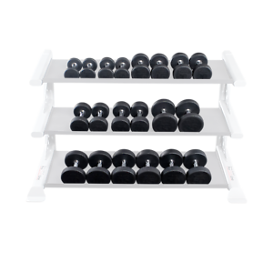 Body-Solid Round Rubber Pro Style Coated Dumbbell Pairs 5-50 lbs  - SDPS550  10 days return