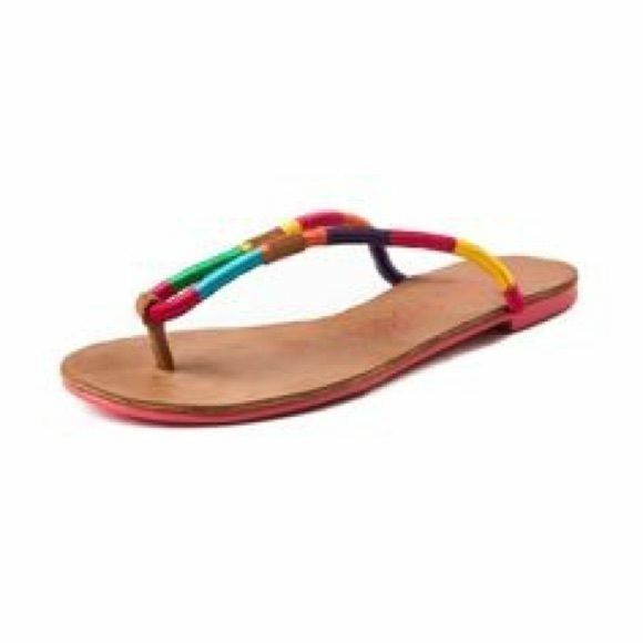Women's London Rebel JESTER Flip Tan Flop/Thong Sandals Beach Summer Tan Flip Size 6.5 b8a06e
