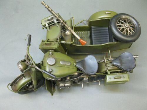 Blechmodell  Militär Motorrad Modell mit Seitenwagen 35cm kein  Blech Spielzeug