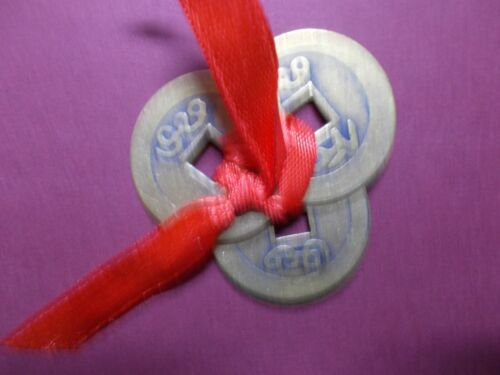 Chinese,Feng Shui,Metal Lucky Coins~I Ching~set of 3 large 28mm~A~UK Seller~