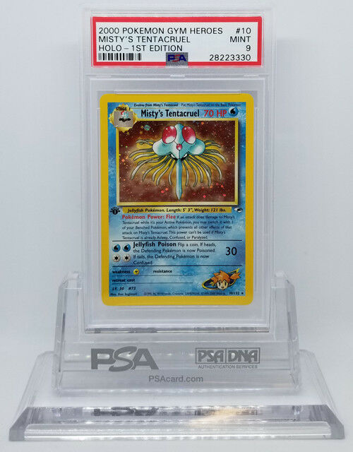 Pokémon - fitness - helden, 1. ausgabe misty tentacruel   10 holo -   28223330 psa - 9.
