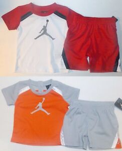 ca4abc9bbd5b01 Air Jordan Infant Toddler Boys 2pc Shorts Outfit 2 Choices Sizes 6 ...