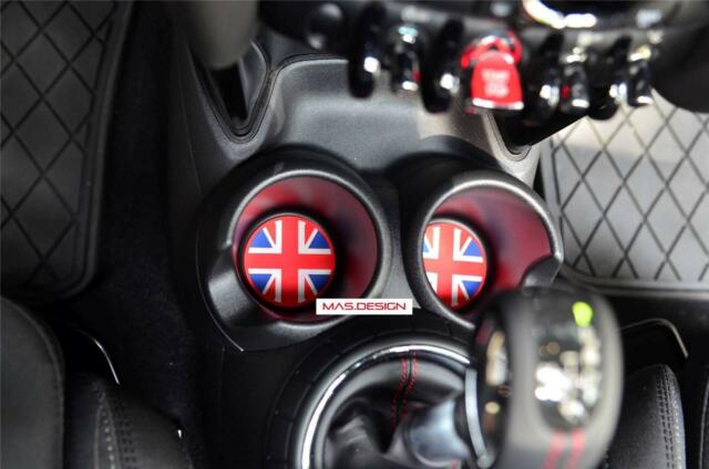 5 pcs set  Cup Coaster for NEW MINI Cooper F56 S Union Jack cup holder
