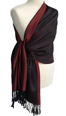 Pashmina Schal Überwurf  Stola schimmert wie Seide rotbraun, rot braun scarf 705