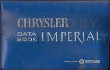 1965 Chrysler Data Book Dealer Album 300 300L New Yorker Imperial Newport Facts