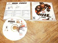 NHL 2003 PC CD-ROM Game EA Sports 2002 Electronic Arts for Windows 2000/XP