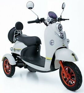Electric Mobility Scooter 3 Wheeled 60V100AH 800W GREEN POWER ROAD LEGAL