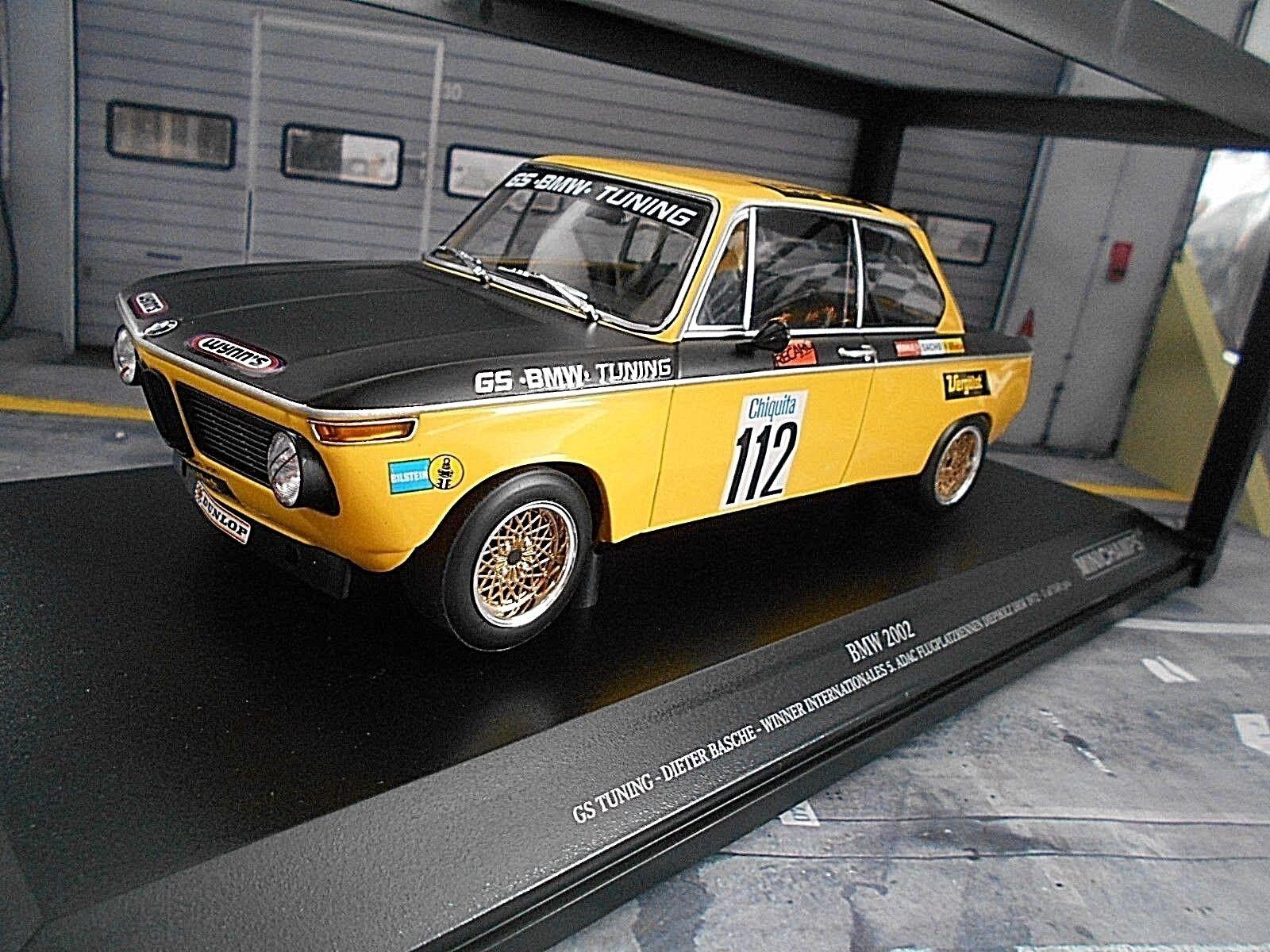 BMW 2002 GS Tuning DRM Diepholz 1972  112 Basche Winner vergölst MINICHAMPS 1 18