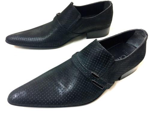 da Designer in Chelsy grigio pelle uomo Exclusive Slipper Scarpe nero 40 antracite qzxxFROnB