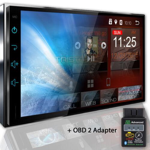 Tristan Auron Android Radio del Coche OBD navegación Bluetooth pantalla doble 2din