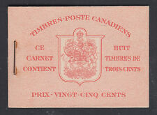 Canada Uni BK34dF, 1942 War Issue intact Booklet w/ French Cover