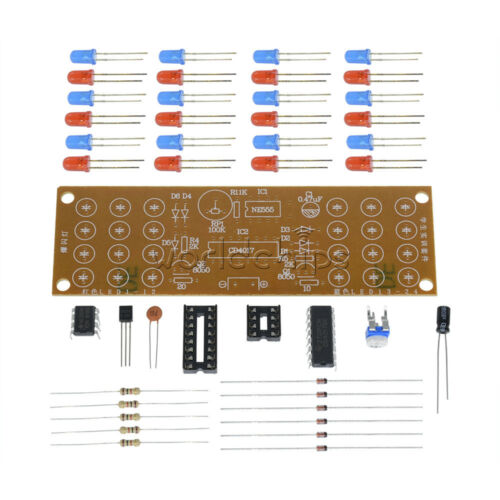 5PCS Red Blue Dual-Color Detonation Flashing Light DIY Kit Electronic Suit