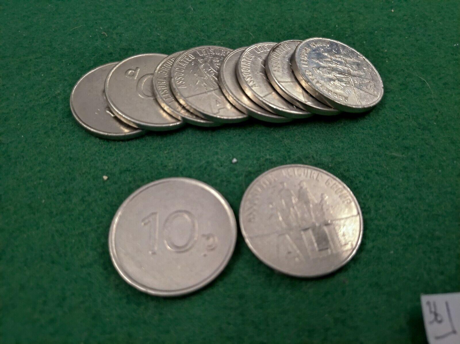 fruit machine 10p tokens x10