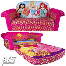 Disney Princess Flip Open Sofa Convertable Couch Lounger Toddler Children Kids