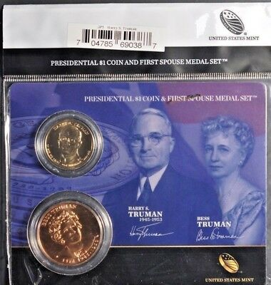 ALL 4 2015 $1 PRESIDENTIAL COIN /& FIRST SPOUSE LADY MEDAL SET US MINT NEW SEALED