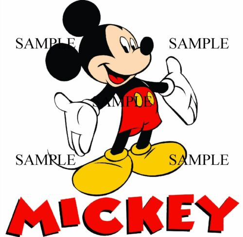 MICKEY MOUSE SOFT  IRON ON  T-SHIRT TRANSFER  NEW  #1
