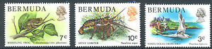 Bermuda-1978-Wildlife-selection-Frog-7c-Lobster-10c-Tropicbird-3c-MNH