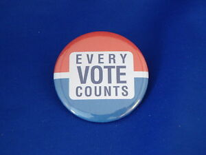 """EVERY VOTE COUNTS"" LOT OF 12 BUTTONS  pin pinback  politics GIVEAWAYS campaign"