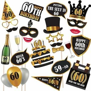 Image Is Loading Unique 60th Birthday High Quality Props On Sticks