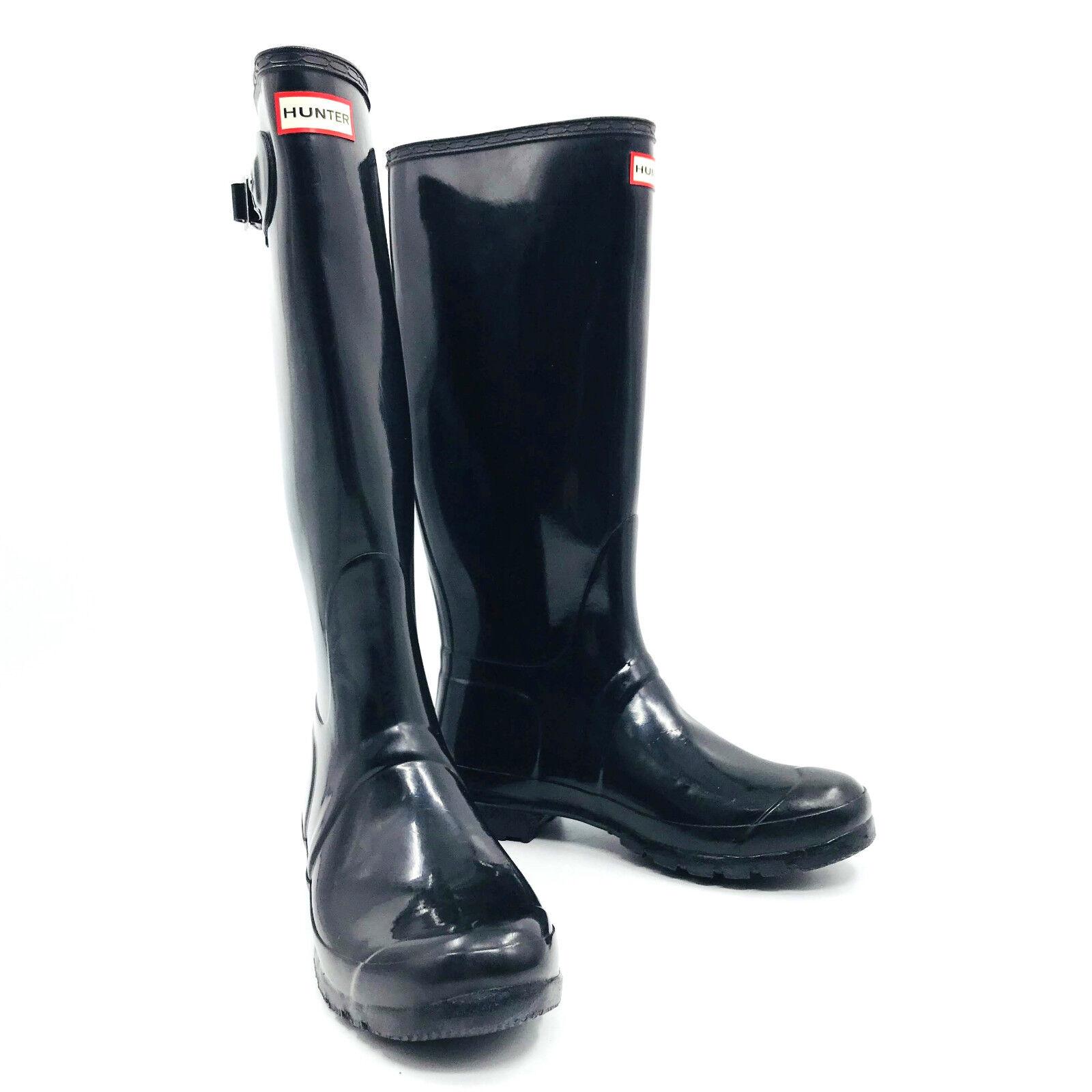 Hunter Original Tall Gloss Negro botas para mujer Talla Talla Talla 10-imperfección  deportes calientes