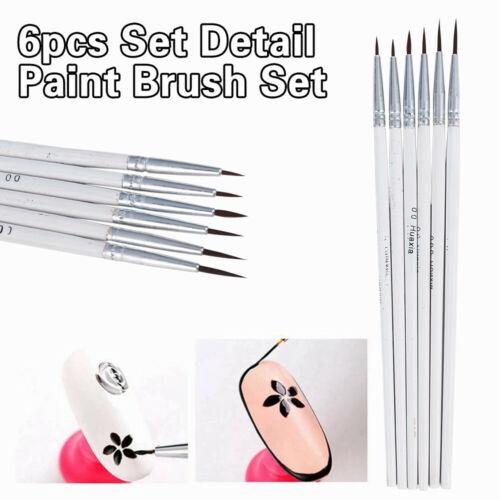 6Pcs Art Painting Brushes Set DIY Acrylic Oil Watercolor Artist Paint Brush