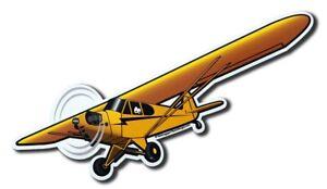 PIPER CUB J-3 AIRPLANE STICKER - FREE SHIPPING